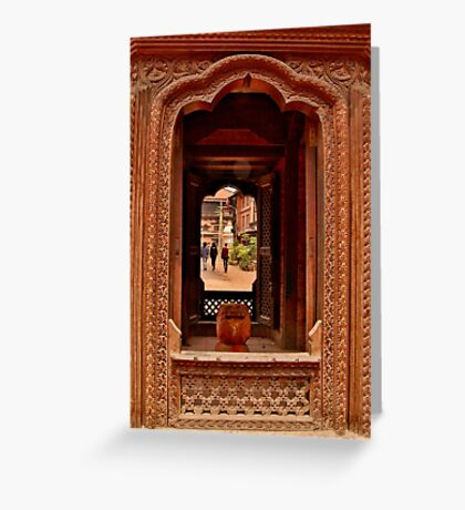 Looking Through: Bhaktapur, Nepal Greeting Card