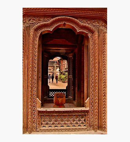 Looking Through: Bhaktapur, Nepal Photographic Print