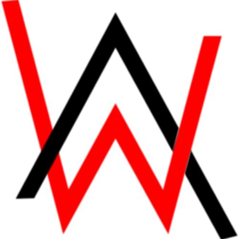 Alan walker logo stickers redbubble - Alan walker logo galaxy ...