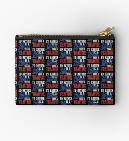 Rather be a Liberal than Traitor Studio Pouch