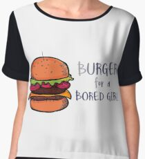 Burger for a Bored Girl Chiffon Top
