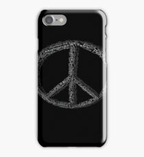 PEACE All Languages Black and White iPhone Case/Skin