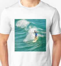 Walking on Water - Southern California Surfing (Longboard) T-Shirt
