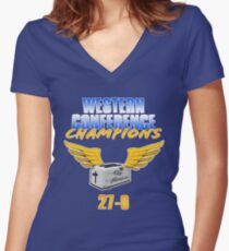 Dubs Toaster Women's Fitted V-Neck T-Shirt
