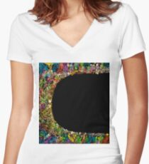 Colorful frame  Women's Fitted V-Neck T-Shirt