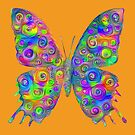 #DeepDream Motley Butterfly by blackhalt