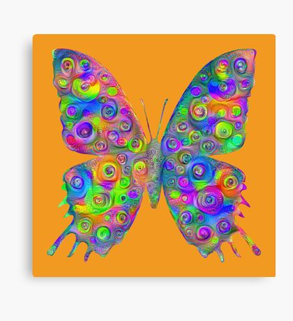 #DeepDream Motley Butterfly Canvas Print