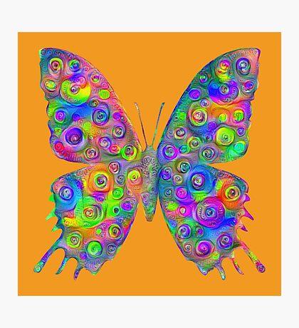#DeepDream Motley Butterfly Photographic Print