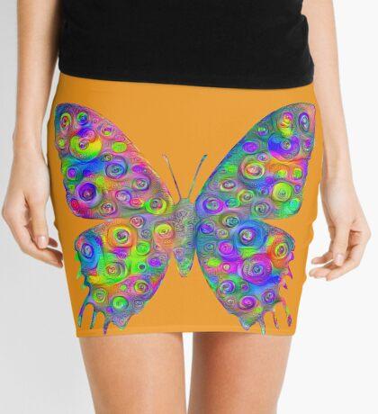 #DeepDream Motley Butterfly Mini Skirt