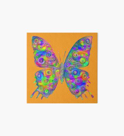 #DeepDream Motley Butterfly Art Board Print
