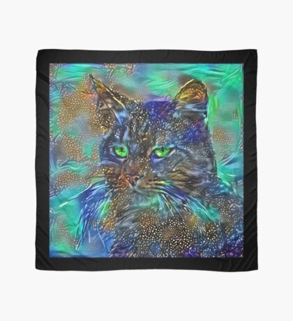 Artificial neural style Starry night wild cat Scarf