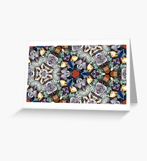 Kaleidoscope effect of glittering stones Greeting Card