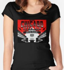 chicago open air fes 2 Women's Fitted Scoop T-Shirt