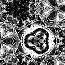 kaleidoscope effect of glimmering glasses by gameover