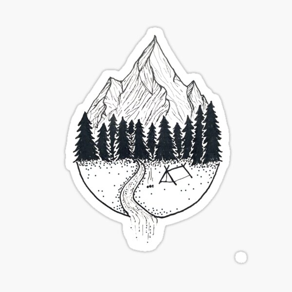 camp grounds Sticker