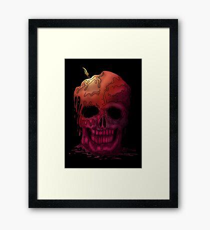 Skull Candle (2) Framed Print