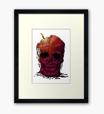 Skull Candle Framed Print