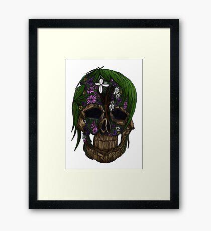 Plant Skull Framed Print