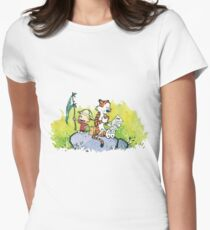 calvin and hobbes slow Womens Fitted T-Shirt