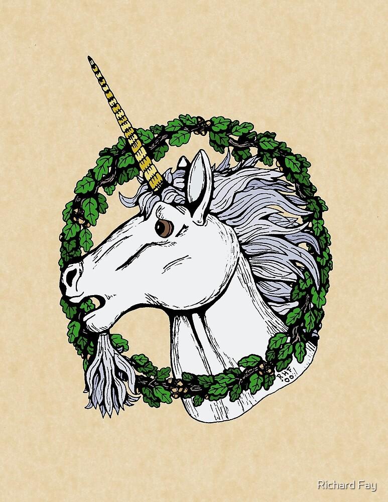 Unicorn Enwreathed by Richard Fay