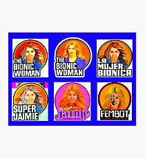 THE BIONIC WOMAN - LOGO - KENNER #2 Photographic Print