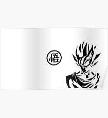 Dragon Ball z (SYMBOL& GOKU) Poster