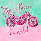 Born to be wild flower power motorcycle by artsandsoul