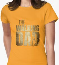 Walking Dad T-shirt Gift Father's Day Womens Fitted T-Shirt