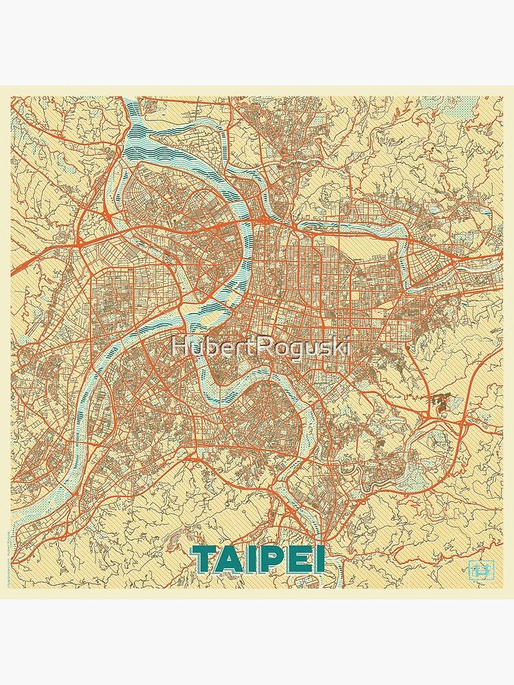 Taipei Map Retro by HubertRoguski