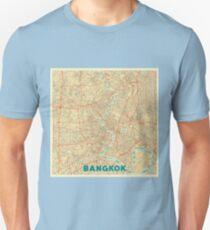 Bangkok Map Retro Unisex T-Shirt