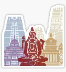 Bangalore skyline poster Sticker