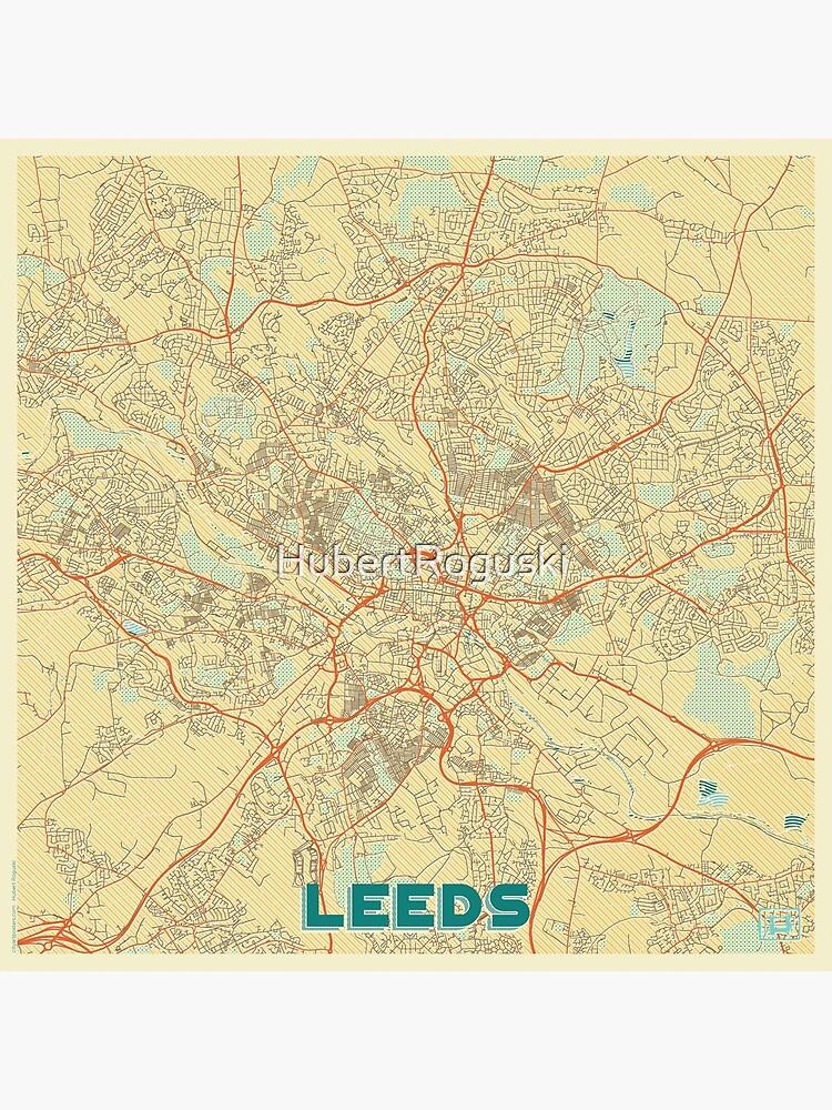 Leeds Map Retro by HubertRoguski