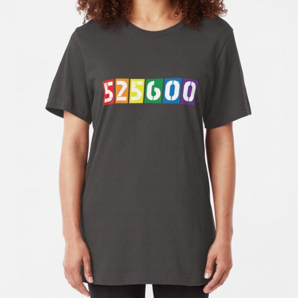 525,600 minutes [rent] Slim Fit T-Shirt