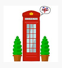"""Hello Love"" - English Telephone Booth Photographic Print"