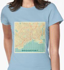 Bridgeport Map Retro Womens Fitted T-Shirt