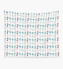 smurfs lineart Wall Tapestry