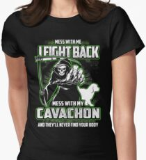 Cavachon Don't mess with my Dog funny gift t-shirts Womens Fitted T-Shirt