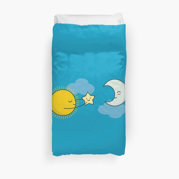Sun and Moon - Cute Doodles Duvet Cover
