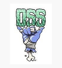OSS blue Photographic Print