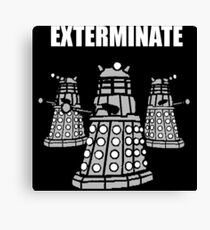 Doctor Who Dalek The Exterminate Canvas Print