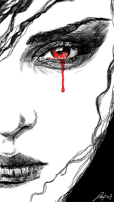 A Tear Of Blood by LeafOfSteel