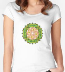Garden - Stained Glass Sign Women's Fitted Scoop T-Shirt