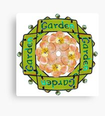 Garden - Stained Glass Sign Canvas Print