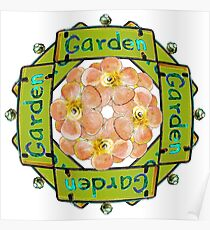 Garden - Stained Glass Sign Poster