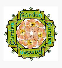 Garden - Stained Glass Sign Photographic Print