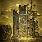 Orford Castle, Suffolk, England 1820 by Dennis Melling