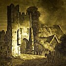 The Ruins of Mettingham Castle, Suffolk, England 1820 by Dennis Melling