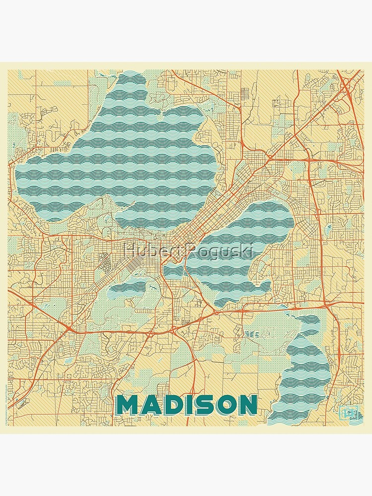 Madison Map Retro by HubertRoguski