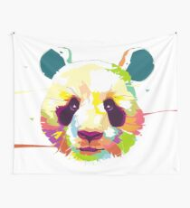 abstract panda Wall Tapestry