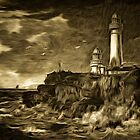 Pladda Lighthouse, River Clyde, Scotland 1830 by Dennis Melling